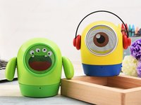 audio eyes - lovely Minions and three eyes monster cartoon wireless bluetooth portable speaker Subwoofer USB drive TF Card