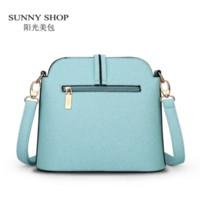 Wholesale SUNNY SHOP Spring Summer New Candy Color Fresh Small Women Shoulder Bag Fashion Shell Women Messenger Bag Sky Blue Beige Colors