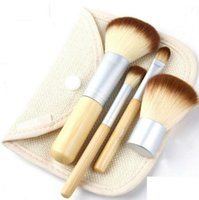 beautiful pc case - Makeup Brushes Set Kit Beautiful Professional Bamboo Elaborate make Up brush Tools With Case zipper bag button bag