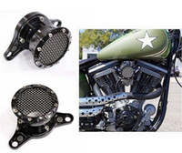 Wholesale NEW RSD BLACK ANODIZED NOSTALGIA VELOCITY STACK AIR CLEANER FITS FOR HARLEY BIG TWIN CAM