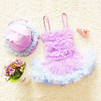 Cheap New Arrival baby girls swimwear Sweet lace bubble skirt kids swimsuit princess style children one-piece bathing suit