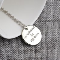 beautiful son - 2016 NEW Fashion The new hottest sale my per son English letters necklace Very beautiful y0031