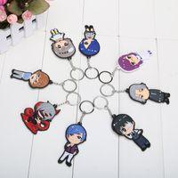 Wholesale 8pcs set Tokyo Ghoul Kaneki Ken Touka Kirishima Shuu Tsukiyama PVC Figure Keychains pendants approx cm