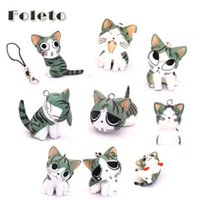 accessories cats home - set kawaii squishy trinket cell phone accessories a full range of sweet home Cat Mobile pendant Japan cheese cat A81601