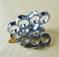 Wholesale DHL BLACK THICK BRASS KNUCKLES DUSTER