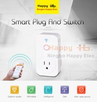 Wholesale HAPPYELEC Free shipment IOS Android APP Timer Switch Wi Fi zigbee bluetooth wireless plug in control light smart socket