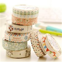Wholesale 24Pcs DIY Kawaii cloth masking tape Sweet flower decorative tapes Creative stationery for Decoration use