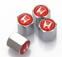 Wholesale Car Styling Silver and Black General Style Car Wheel Tire Valve Cap For Honda Car Logo For Your Option