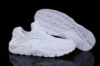 Wholesale 2016 New Cheap Air Huarache Running Shoes For Women And Men Brand Breathable Huaraches Tyrant gold couple shoes Trainers Size EU36