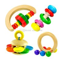 Wholesale Baby Wood Bell Rattle Toy Handbell Musical Education Percussion Instrument A00173 BARD
