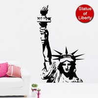 background city - New York City Silhouette Statue Of Liberty Background Popular Fluorescent Luminous Wall Sticker Decoration Living Room