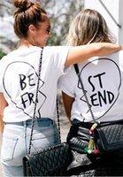 best graphic tees - Best Friends T shirt Women Summer Best Friend Graphic Tees Women Printed Short Sleeve Punk Rock T shirts