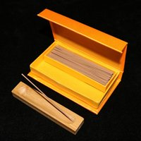 Cheap Free shipping wholesale 15g box high quality indian Laoshan sandalwood stick incense with gift box and bamboo board tray suit to office