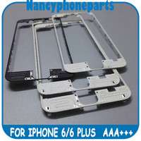 Wholesale DHL Free Front Frame Bezel Middle LCD Holder For iPhone Plus With Hot Glue Black White