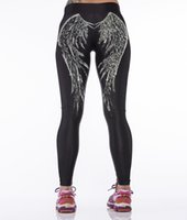 angels fitness - NEW Fashion Sexy Girl Women Feather Angel Wing D Print High Waist Running GYM Tights Fitness Sport Leggings Yoga Pant