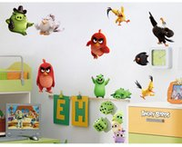 baby nursery games - Kawaii Birds Wall Stickers for Kids Rooms Baby Home Decoration Anime Posters Cartoon Wall Decal Art Game Wall Paper Kids Nursery