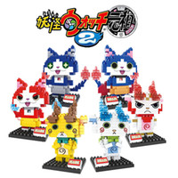 Wholesale 2016 style yo kai watch DIY figures building blocks Diamond blocks kids educational toys with box DHL shipping E1259