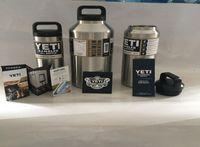 Wholesale MOQ Rambler Tumbler OZ YETI stainless steel Vacuum heat insulation kett Double layer beer bottle large capacity bucket