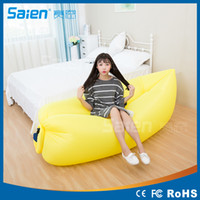 Wholesale 2016 Fast inflatable laybag banana sleeping bag lamzac hangout Air Sofa Camping laybag Beach Sofa Lounger Bed sleeping lazy bag