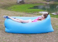 Wholesale Fast Inflatable Lazy Sleeping Sofa Bed Festival Camping Hiking Travel Hangout Beach Bag Bed