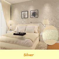 best wallpaper color - The Best Price Wall paper Roll Home Decoration Wallpaper Living Room TV Background Bedroom Sliver Color m cm