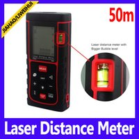 Wholesale 50m Digital laser distance meter with level bubble laser ranging device MOQ