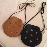 mk purses - Girls Bag New Korean Cute Rivet Mini One Shoulder Bag Fashion PU Handmade Kids Purses MK