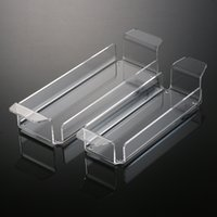Wholesale HIgh Quality Plastic Spice Rack New High Quality Clear Acrylic Storage Trays For Condiment Bottles Two Size Plexiglass Tool storage