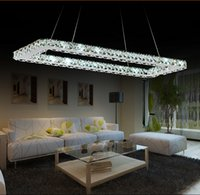 Wholesale Luxurious Silver Square Crystal LED Chandelier Crystal Lamp Light Lighting Fixture Modern LED chandeliers