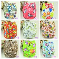 Wholesale 20 colors baby diapers baby cloth diapers adjustable size years neonatal cartoon diaper pocket