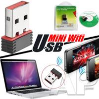 2016 Adaptador USB 150Mbps mini WiFi adaptador WiFi WiFi Dongle WiFi externo Ethernet LAN tarjeta de red para el ordenador portátil SKYBOX