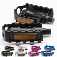 Wholesale BMX MTB Bike Bicycle Pedals Flat Platforms Slip resistant Aluminum Alloy Cycling Ball Bearing Pedal Light Reflector Magnesium Pedals Platfor