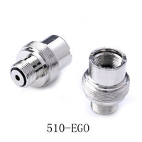 Wholesale 510 to eGo Adapter E Cigarette Adapter battery to eGo screw threading Adapter eGo Converter Extender Electronic Cigarette