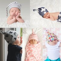 Wholesale 2016 Fashion Newborn Infant Toddler Baby Soft Crochet Knit Hospital Hat Hipster Cute Print Beanie Cap