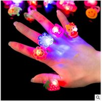 Wholesale Flash Rings LED Colorful Toys Children Creative Gift Finger Emitting Light Up Toys Interesting Trendy ABS Environmental Toys