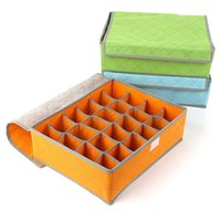 Wholesale Solid Charcoal anti bacterial storage drawers underwear storage with cover grids