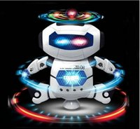 Wholesale CCX Electric music dancing robot with light Boys and girls children electric toy party gift Christmas New Year pieces