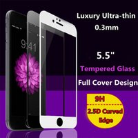 best screen cover for iphone - Best Quality s plus Full Cover Screen Protector Tempered Glass for iPhone Plus inch Protective Film Clean Tools