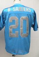 barry sanders throwback jersey - Barry Sanders Jersey Throwback Football Jersey Best quality Authenic Jersey Size M L XL XXL XXXL Accept Mix Order