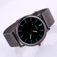 Cheap 2016 new version fashion business casual watch Waterproof black watches suit for men and women free DHL