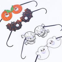 plastic skull - Halloween Adult Kids Plastic Glasses Fashion Novelty Pumpkin Bat Skull Party Glasses Styles