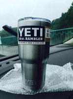 america mount - Popular Europe And America YETI The Same Paragraph Stainless Steel Vacuum Cup Double Layer Vacuum Vehicle Mounted Thermal Insulation Cup