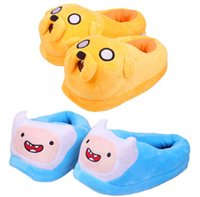 adult adventure games - 26cm Adventure time Jake Finn Plush Shoes Slipper Adult slippers Plush Toys for Children Women Men