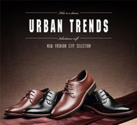 b grade shoes - NEW Fashion genuine Leather Casual shoes Black Brown men s dress shoes gentleman pointed men s shoes high grade career or office shoes