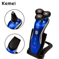 Wholesale Kemei in Washable Electric Shaver with Triple Blades Nose Hair Trimmer D Shaving Machine Men s Face Care RCS108BQ Z