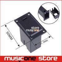 bass pickup parts - 9V Battery Holder MM MM Case Cover For Guitar Bass Pickup platic guitar parts black color