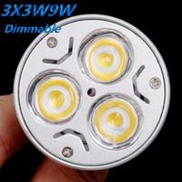 Wholesale 9W LED Spotlights GU10 MR16 E27 E14 B22 LED Bulb CREE LED Lights x3W Energy saving Bulb Led Light Bulb