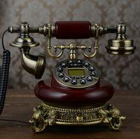 antique caller id phone - Cheap Antique Household fixed landline Retro phone American antique telephone Blue Backlit Handsfree Caller ID