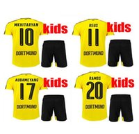 b rugby - Top Thai shirt Dortmund the KIDS KIT jerseys shirt REUS AUBAMEYANG MKHITARYAN WEIGL PULISIC adult Football Shirts Maillot b