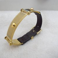 accesories for men - luxury new world fashion leather watch band bracelet bangles stainless steel designer jewelry accesories for women or men